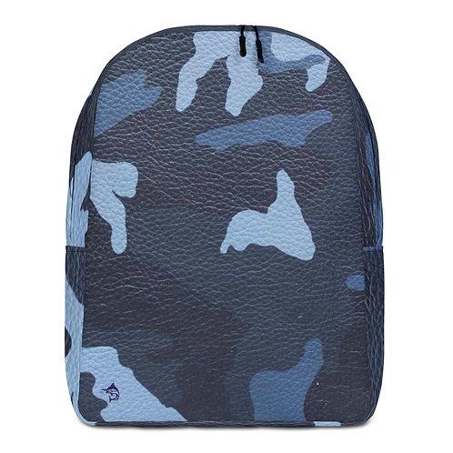 """TREKK X """"Offshore"""" ® Camo Navy Ocean Water Leather Premium Minimalist Backpack"""