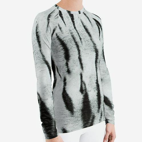 "TREKK X ""Yeti"" Real Life ® Winter Snow Tiger Camo Women's Long Underwear Shirt"
