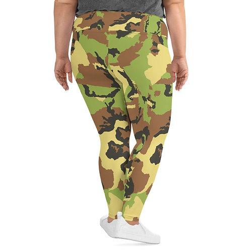 "TREKK X ""Hunter"" Green Camo Premium Plus Size Leggings"