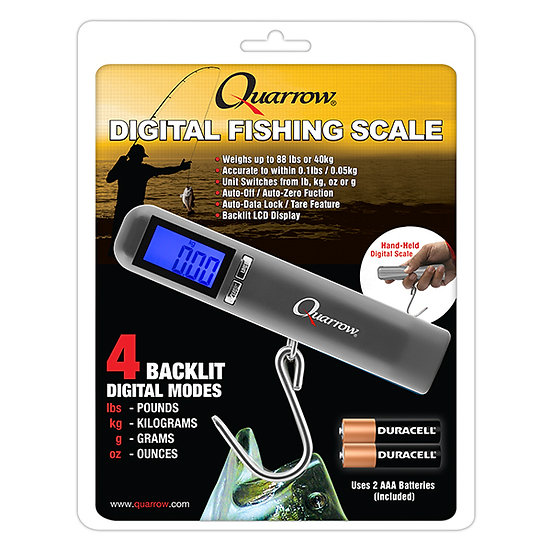 Quarrow ® Back Lit LCD 88lb 40kg Water Resistant Digital Fishing & Fish Scale