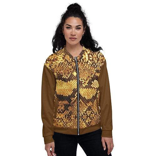 """TREKK X  """"Yuma Cowboy"""" Snake Skin Look Unisex Bomber Jacket Clothing"""