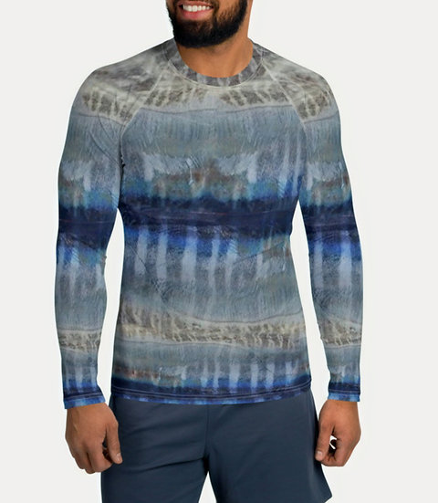 "TREKK X ® Offshore ""Wahoo"" Fishing Surfing Swimming Men's Rash Guard Shirt"