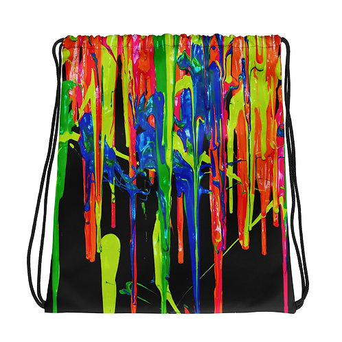 """Drawstring Bag  """"Dripping Wet Paint"""" Collection"""
