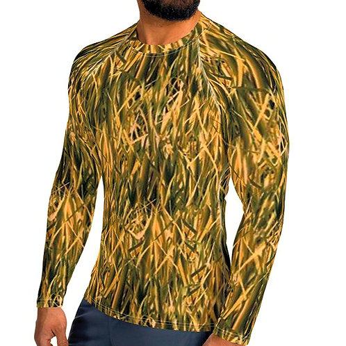 "TREKK X ® Back Water ""High Grass"" Camo Fishing Hunting Sports Rash Guard Shirt"