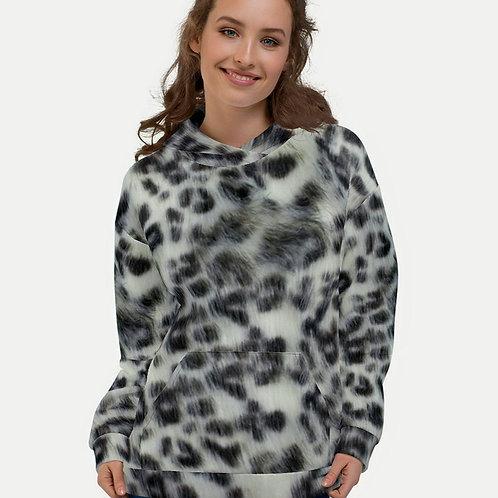 TREKK X ® Panthera Winter Snow Leopard Camo Unisex Hoodie