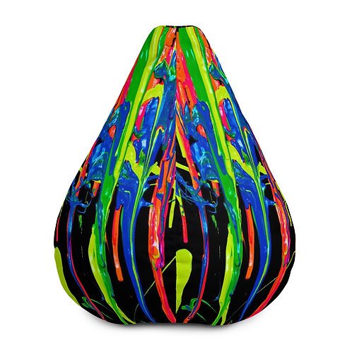 "ZENX "" Dripping Wet Paint"" Bean Bag Chair Cover"