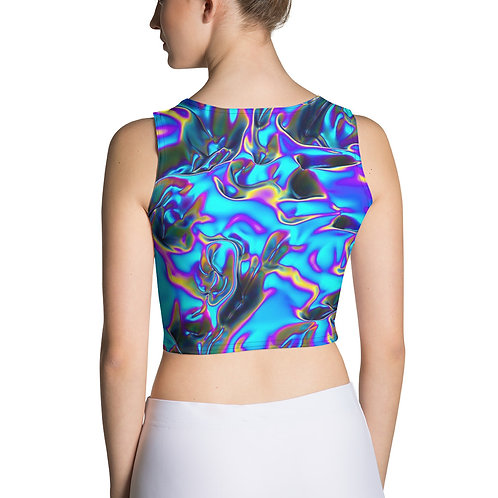 "Crop Top ""Holographic Blue Flame"" Collection"