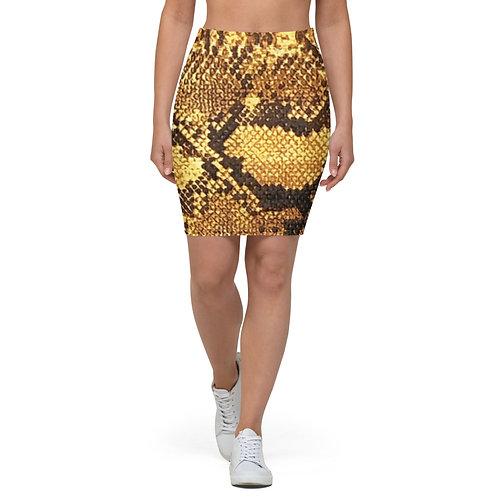 "TREKK X ""Yuma Cowgirl"" Snake Skin Look Women's Ladies Pencil Skirt"