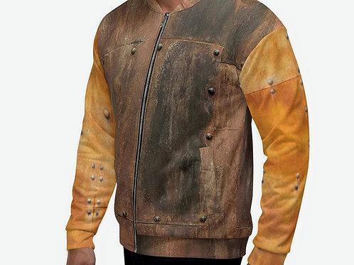 "TREKK X  ""MechaniX""  Riveted Antique Copper Unisex Bomber Jacket Clothing"