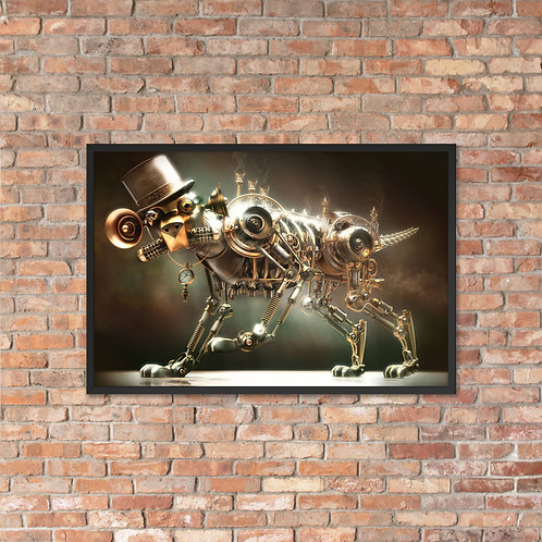 "ART X WORKS ""Heavenly Medicated"" Steampunk 3DX Framed Museum Quality Poster"
