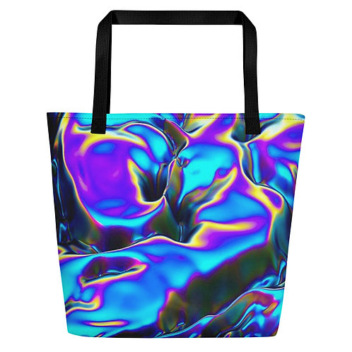 "Beach Bag ""Holographic Blue Flame"" Collection"