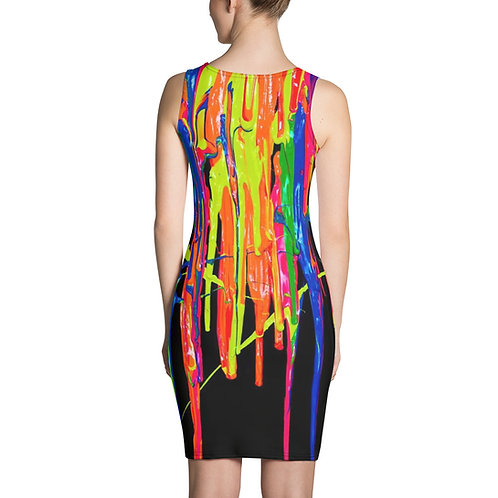 "Sublimation Dress  ""Dripping Wet Paint"" Collection"