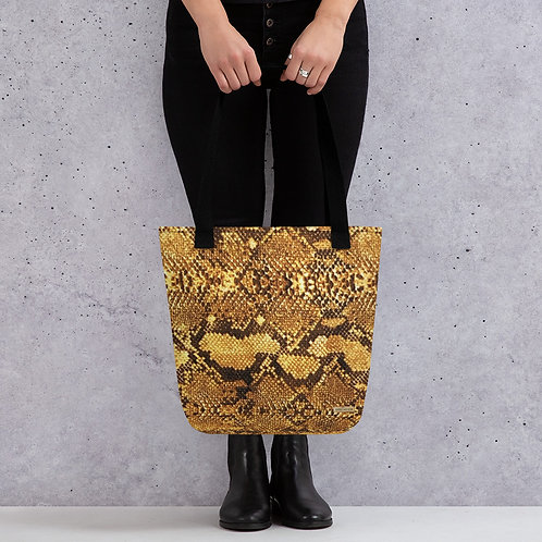 "TREKK X ""Yuma Cowgirl"" Snake Skin Tote Bag Accessories 15 x 15"