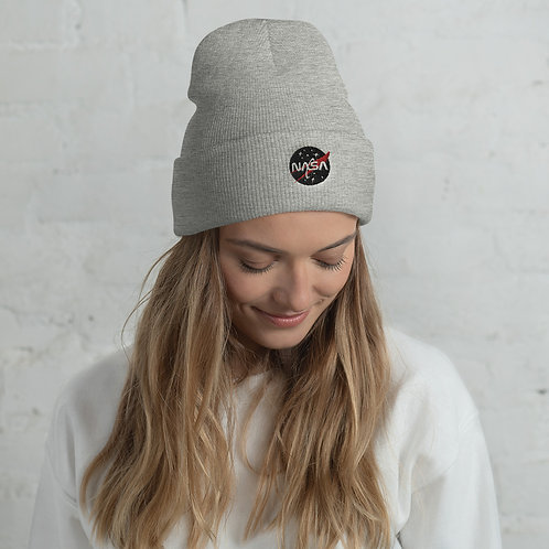 "NASA X ""Next Gen"" Classic Quality Cozy Comfy Cuffed Beanie Hat Head Gear"