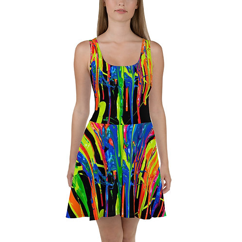 """Skater Dress """"Dripping Wet Paint"""" Collection"""