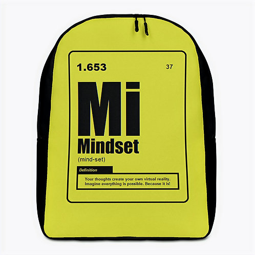 "ZENX ""Periodic Mindset"" Black on Neon Yellow Minimalist Backpack"