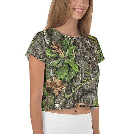 Ladies Mossy Oak ® Obsession Camo Clothing Crop Tee