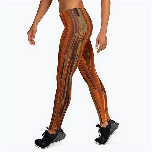 "TREKK X ""Copper Patina"" Women's Ladies Leggings Bottom Layer Rash Guard"