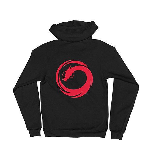 ZENX Red Dragon Unisex Zip Up Hoodie Sweater
