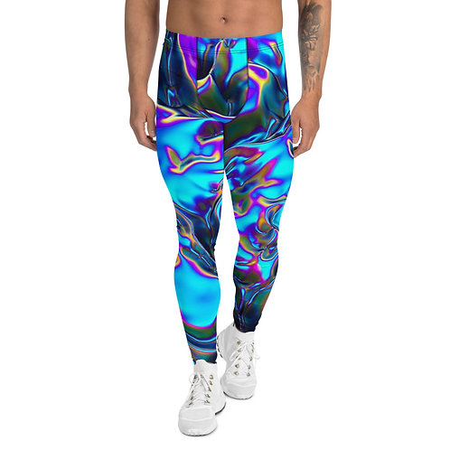 """Men's Leggings """"Holographic Blue Flame"""" Collection"""
