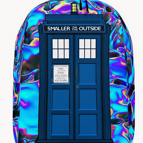"""O.G. STEAMPUNK """"Whovian"""" Dr. Who Premium Minimalist Backpack"""