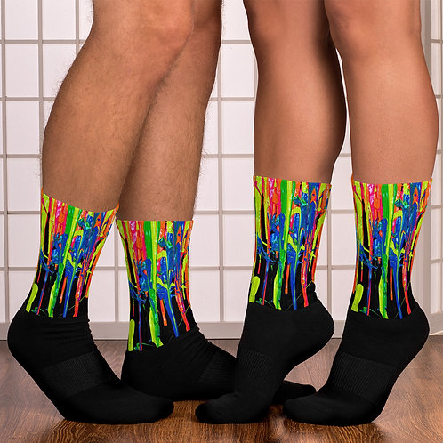 """Unisex Socks """"Dripping Wet Paint"""" Collection"""