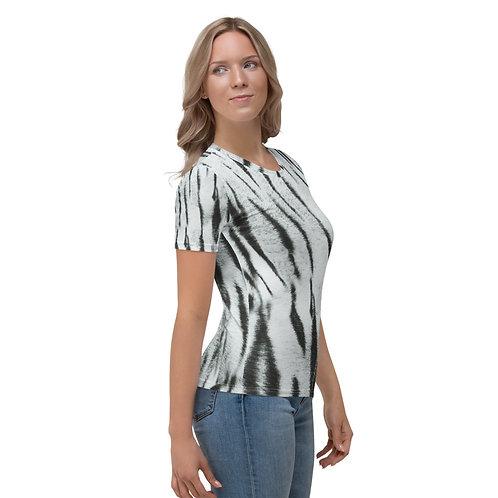 "TREKK X ""Yeti"" Real Life ® Winter Snow Tiger Camo Camouflage Women's T-shirt"
