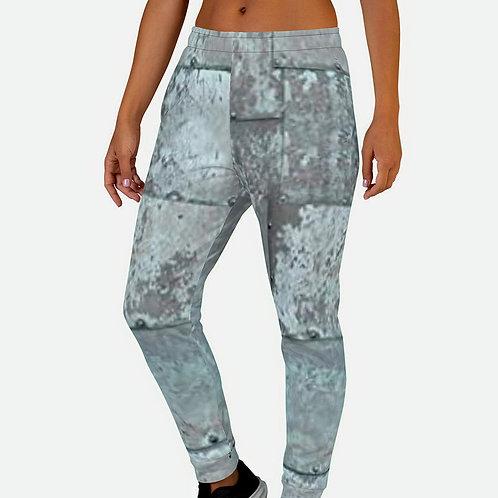 """TREKK X """"MechaniX"""" Riveted Aged Steel Women's Sweat Pants Joggers"""