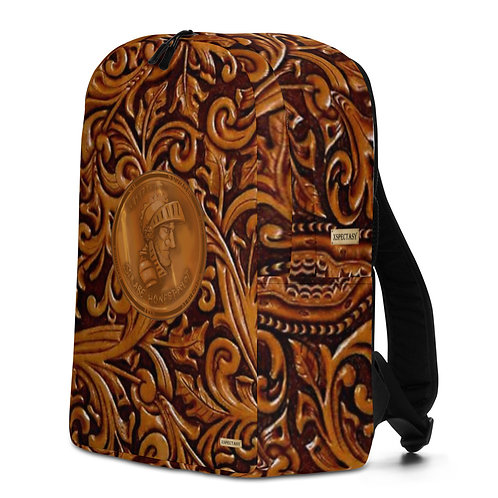 """O.G. STEAMPUNK """"Wild Wild West"""" Tooled Leather & Copper Minimalist Backpack"""