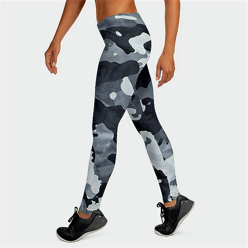 "TREKK X ""Siberia"" Winter Camo Camouflage Premium Women's Leggings"