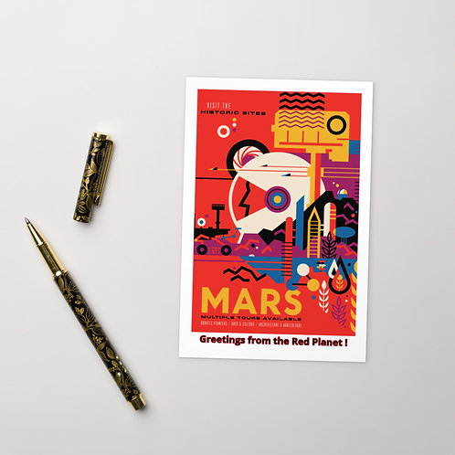 "NASA X Mars Rover ""Greetings from the Red Planet"" Planetary Postcard"