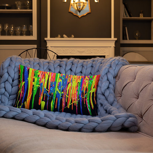 """Premium Pillow """"Dripping Wet Paint"""" Collection"""