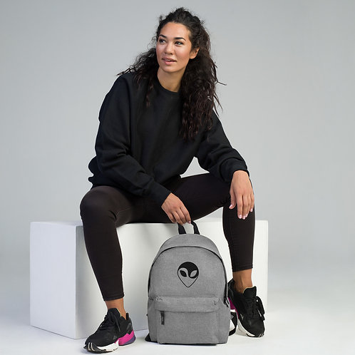 """NASA X """"Ying Yang The Alien"""" Embroidered Backpack"""