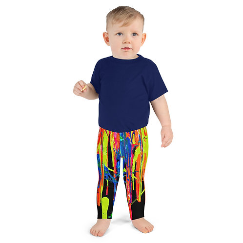 """Kid's Leggings """"Dripping Wet Paint"""" Collection"""