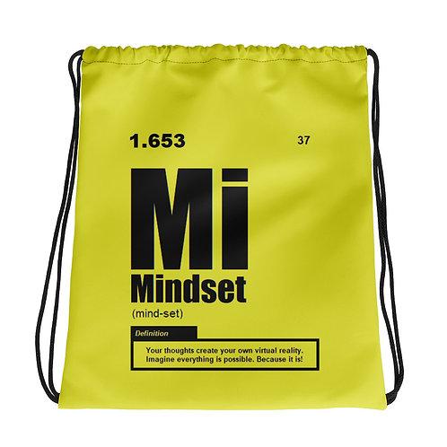 "ZENX ""Periodic Mindset"" Neon Yellow Drawstring Bag"
