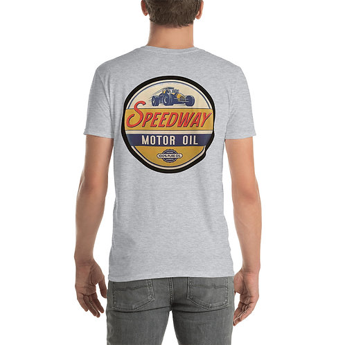 "O.G. STEAMPUNK ""Speedway Motor Oil"" Short-Sleeve Unisex T-Shirt"