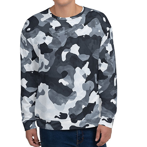 "TREKK X ""Siberia"" Winter Camo Camouflage Premium Unisex Sweatshirt"
