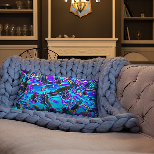 """Basic Pillow """"Holographic Blue Flame"""" Collection"""