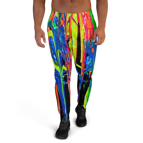 "Men's Joggers  ""Dripping Wet Paint"" Collection"
