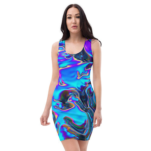 "Sublimation Dress ""Holographic Blue Flame"" Collection"