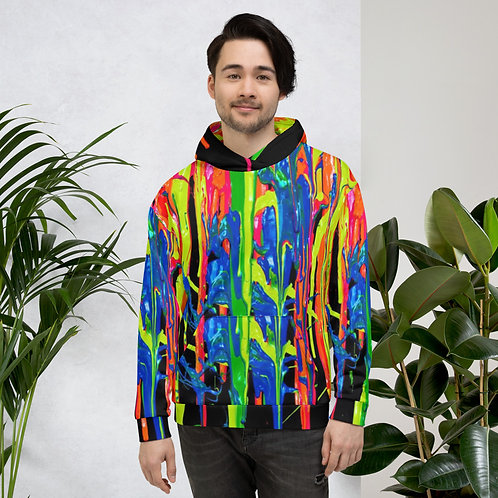 "Mens' Hoodie ""Dripping Wet Paint"" Collection"