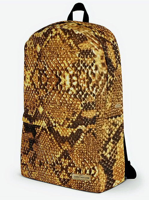 """TREKK X """"Yuma Cowboy"""" Western Snake Skin Look Classic Quality Backpack"""