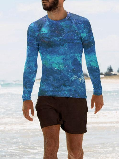 "TREKK X ® Offshore ""Deep Water"" Fishing Surfing Scuba Swim Men's Rash Guard"