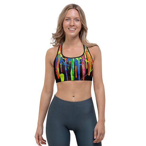 "Women's Sports Bra ""Dripping Wet Paint"" Collection"