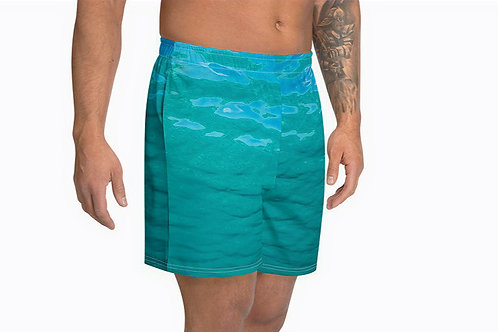 "TREKK X ® Offshore ""Salty Life"" Fishing Surfing Scuba Men's Athletic Long Shorts"