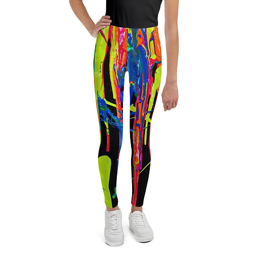 """Youth Leggings """"Dripping Wet Paint"""" Collection"""