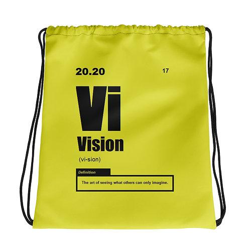 "ZENX ""Periodic Vision"" Neon Yellow Drawstring Bag"