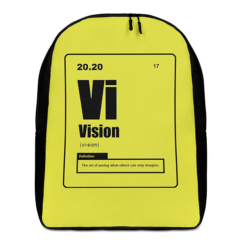 "ZENX ""Periodic Vision"" Black on Neon Yellow Premium Minimalist Backpack"