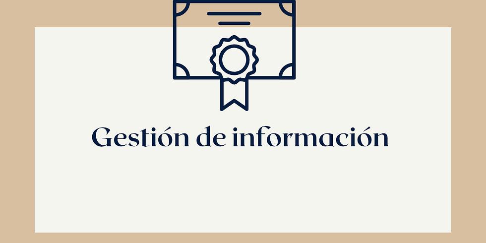 Capacitacion en Gestión de información