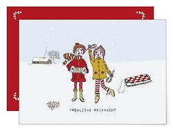 Fröhliche Weihnacht   Klappkarte